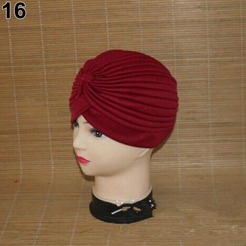 Turban-Hat-Cap-Hijab-Hairband-Bandana-Wrap-Hair-Loss-Chemo-Fancy-Indian-Plain-Ne thumbnail 16