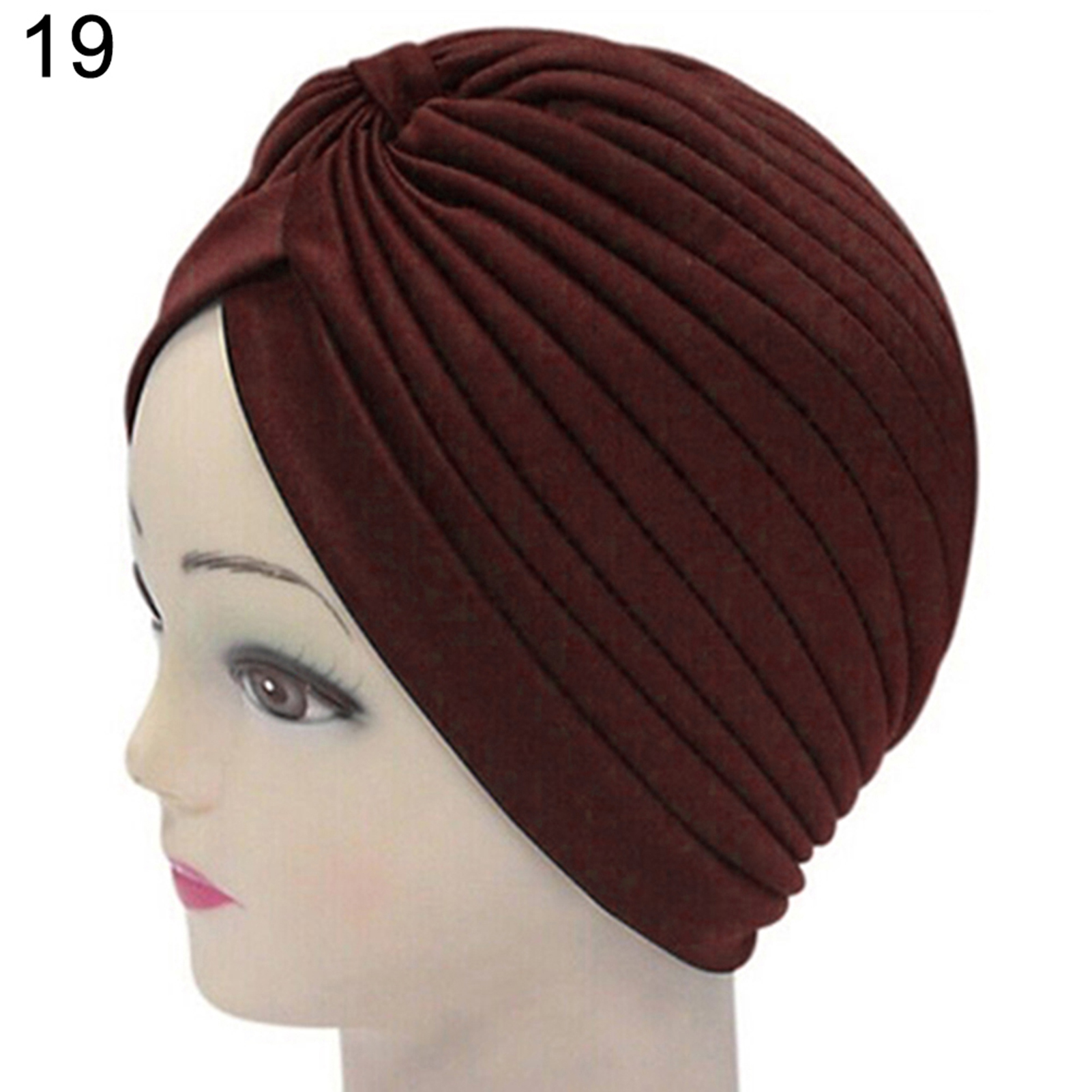 Turban-Hat-Cap-Hijab-Hairband-Bandana-Wrap-Hair-Loss-Chemo-Fancy-Indian-Plain-Ne thumbnail 28